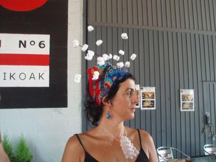 Artista trabajando en directo; Dolo Navas
