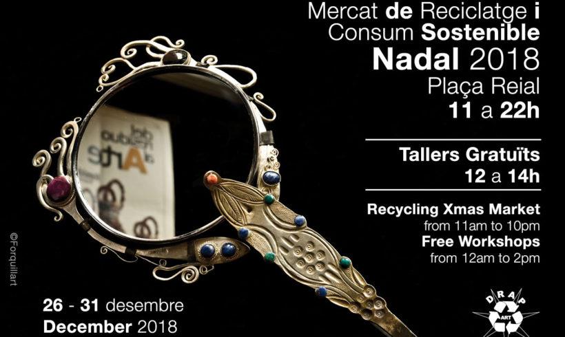 Mercat de Reciclatge i Consum Sostenible Nadal Plaça Reial