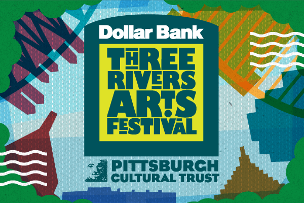 Drap-Art en Dollar Bank Three Rivers Art Festival