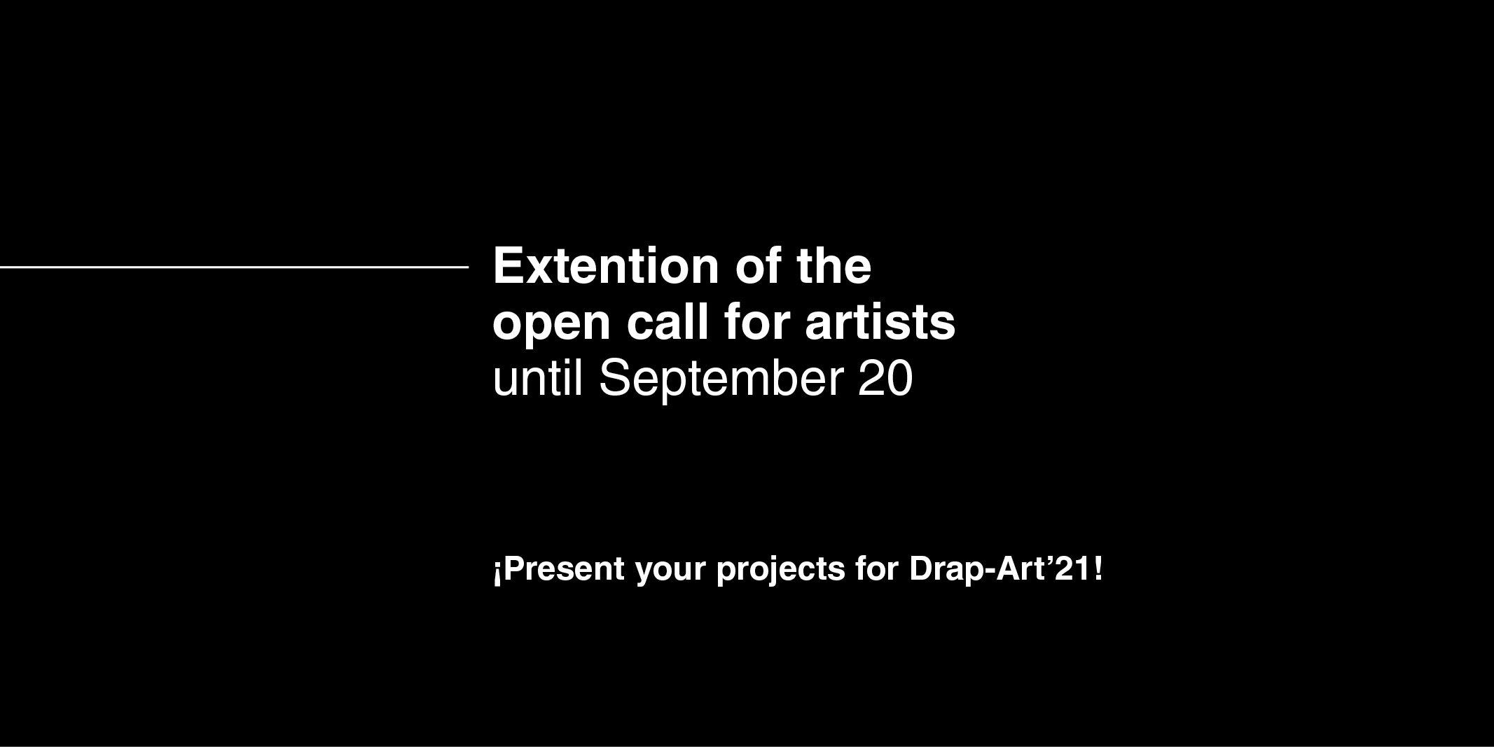 DrapArt'21 – Extension call for artists